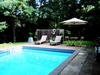 chic, comfortable home with pool, East Hampton