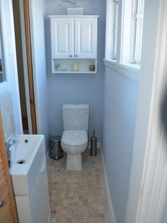 1/2 bathroom on second floor near bedrooms.