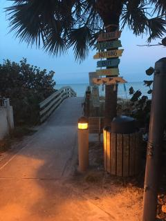 One of thirty entrances to Indian Rocks Beach,