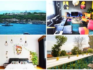 LUXURY SEA VIEW APT WITH BALCONY, Estambul