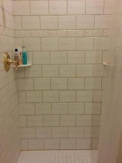 2nd bathroom, tile shower