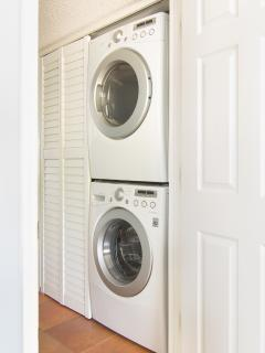 Yes, we have a washer and dryer in the condo!