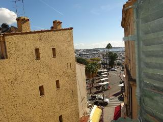 View of the Old Port of Cannes from the lounge window