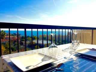 Panoramic sea-view apartment in Beaulieu center