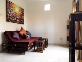 Private dark bamboo Apt w. kitchen, Sanur