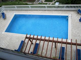 Looking down on pool