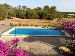 Hay unas magníficas vistas desde la piscina y total privacidad para el huésped.