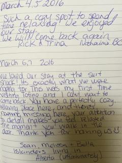 From our Guestbook