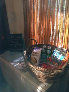 Welcome basket has complimentary snacks ready for you to enjoy upon check-in.