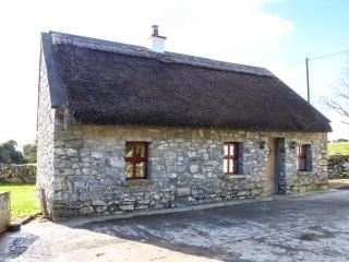 THE WELL HOUSE, detached, stone-built thatched cottage, solid fuel stove, dog-fr