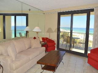 A beachfront condo with everything you need so you can kick back and relax!