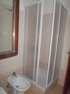 The shower in bathroom