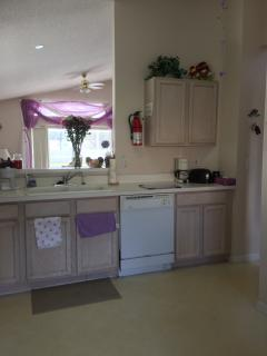 Kitchen overlooking lounge