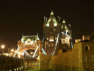 Tower Bridge is located on the same side of the city and is stunning by night and day...