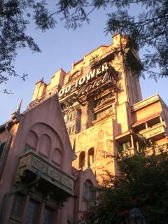 Tower of Terror thrill ride at WDW.