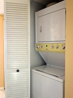 Washer and dryer in condo!