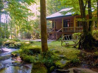 "The secluded, luxury ""WATERFALL CABIN"", Brevard"