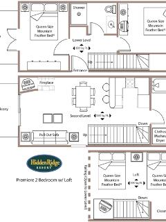 This is the floor-plan of the 2 bedroom apartment.