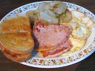 hearty signature breakfast at Circa 1894 B&B and Day Spa.