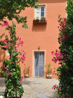 Door to the villa garden and the Terrace