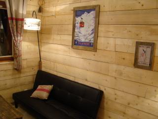 Joli studio de style chalet avec balcon, Val d'Isère