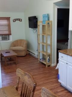 Gecko Cottage Living room with TV and pull out