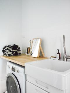 Laundry with Bosch washer/dryer