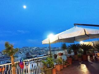 The terrace in the evening