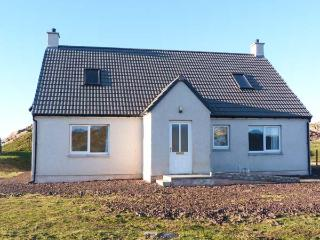 HILLTOP, single-storey, detached cottage, woodburner, enclosed garden, Lochinver