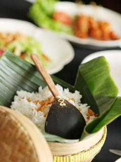 Balinese feast cooked by villa chef