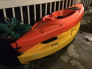 2 single seat kayaks for your option to rent from us during your stay.  Great idea for small fee!