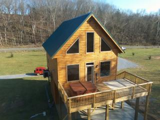 Brand New River Front log cabin, Luray