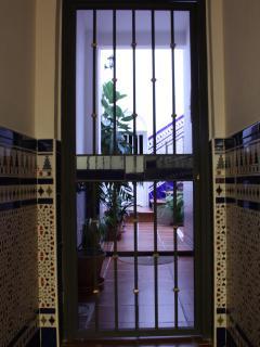 Puerta de entrada en la casa