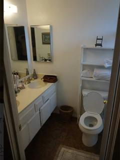 master bath is private and has a shower that is handicap accessible.