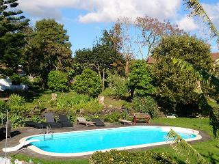 House garden T2, swimingpool, barbeque near P. Del, Ponta Delgada