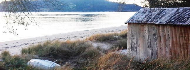 The boat shed on the beach