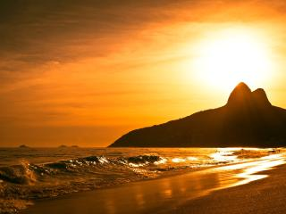 The beautiful beach of Ipanema