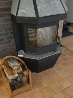 Fireplace and central heating.