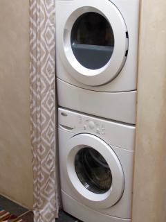 There is a full size washer and dryer for your convenience.