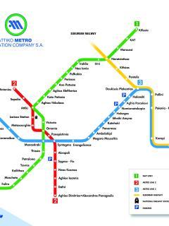 Athens metro lines plan