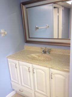 Vanity in Hall to Bedroom