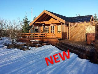 Golden Circle cabin with Hot tub and WiFii