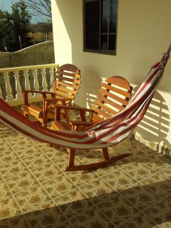 Rocking chairs or hammocks...you choose.