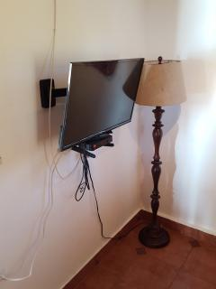 Flat screen TVs upstairs and downstairs