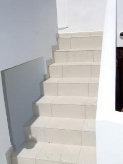 Only 8 steps leading to the roof terrace and the Loft Apartment