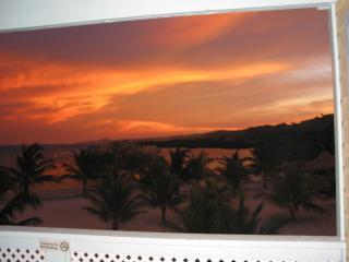 Sunset off upper Reef villa deck