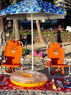 we supply beach gear , chairs , towels , snorkeling gear