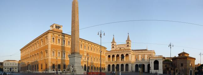 Nearby: the obelisk of St. John's Church in Lateran and the church