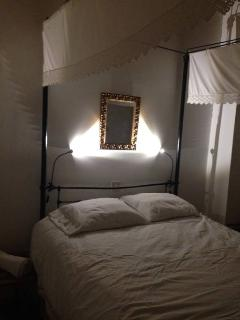 Traditional Cyprus bed in one of the bedrooms upstairs