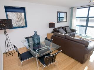 The fabulous south-facing lounge  has views of the river and Newcastle's famous bridges